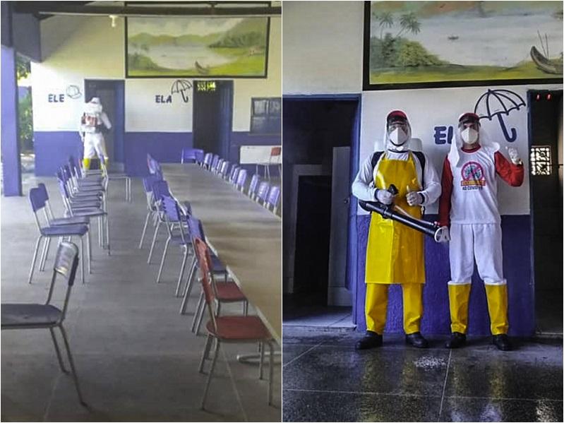 Covid-19: Prefeitura de Cocal realiza sanitização de escolas municipais