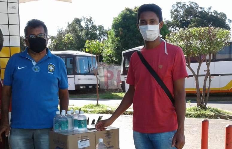 Lagoa de S. Fcº: Famílias indígenas recebem doações de álcool e máscaras