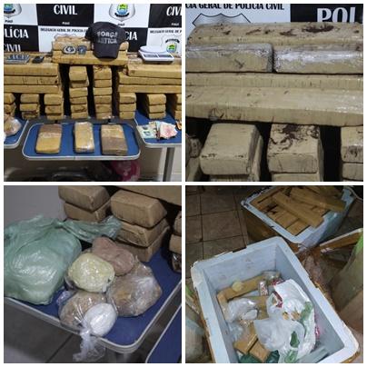 Operação policial apreende grande quantidade de drogas em Picos