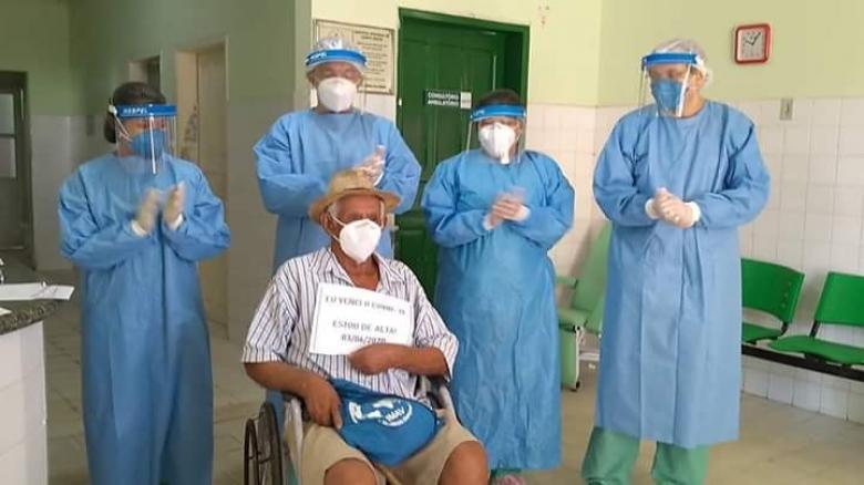 Idoso diagnosticado com Covid-19 tem alta do Hospital de Campo Maior