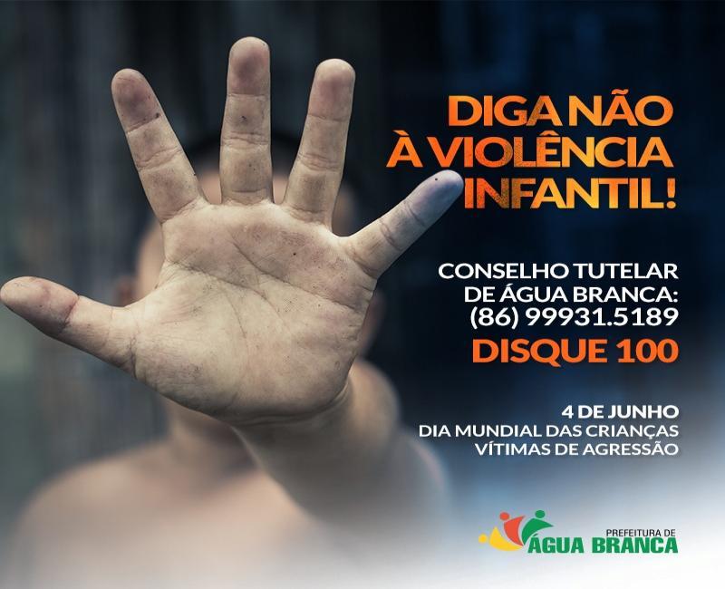 Prefeitura de Água Branca faz campanha contra agressão infantil