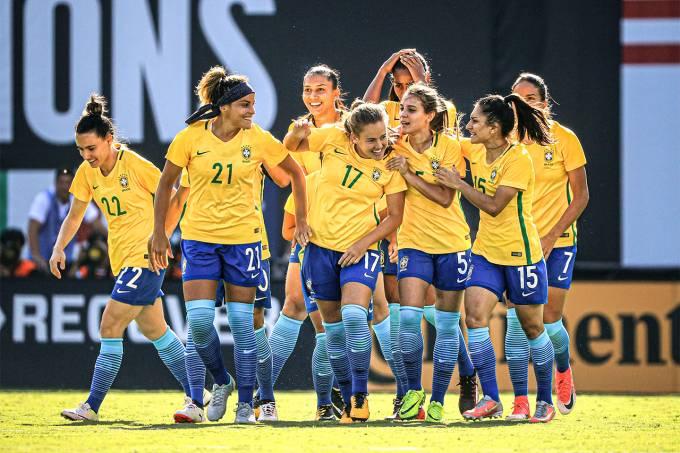 Seleção feminina de futebol do Brasil (Sean M. Haffey/Reuters)