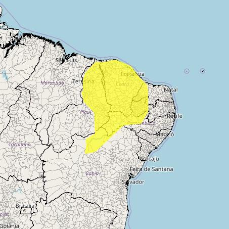 Meteorologia emite alerta de 'perigo potencial' para temporais no Piauí