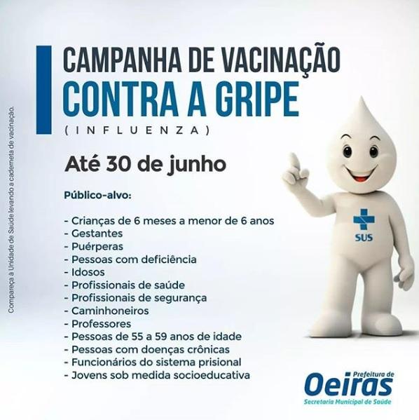 Saúde de Oeiras prorroga campanha de vacinação contra gripe até 30 de junho