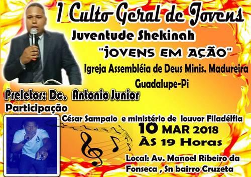 Assembleia de Deus Madureira promoverá encontro de Jovens em nossa Cidade