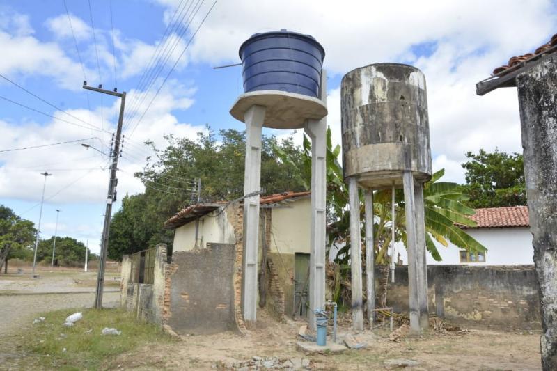 Chafariz da Taboca recebe nova base e caixa d'água