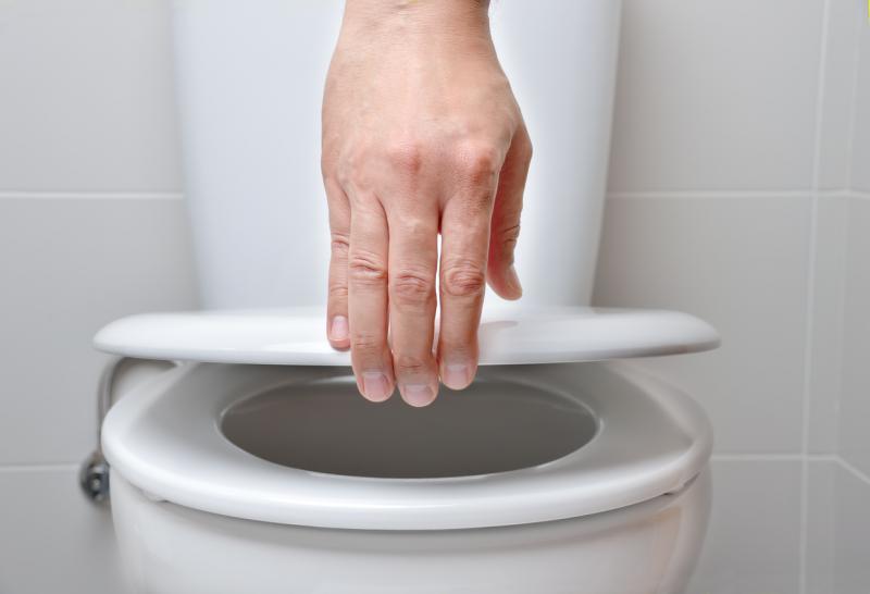 Recomenda-se sempre fechar o vaso sanitário antes de acionar a descarga. Foto: Cunaplus_M.Faba