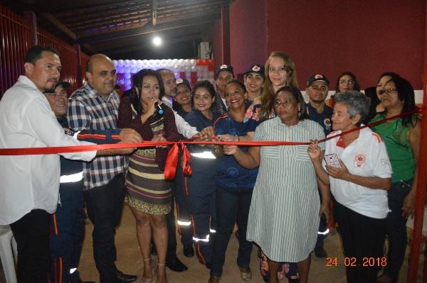 Prefeita Doquinha inaugura base do SAMU em Colônia do Gurgueia