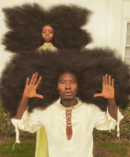 Influencer quebra recorde mundial de cabelo mais volumoso