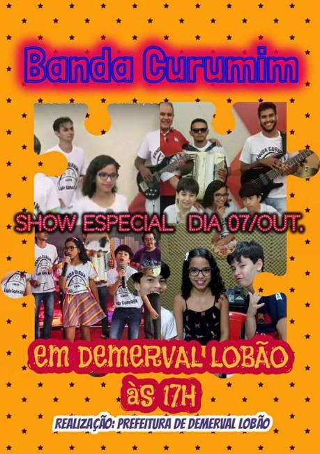 Prefeitura de Demerval Lobão anuncia show especial na festa das crianças