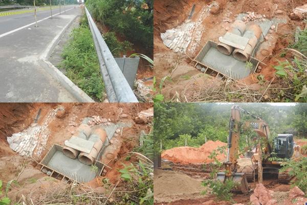 Construtora Sucesso inicia reconstrução de bueiro na BR-135, trecho próximo à cidade de Gilbués