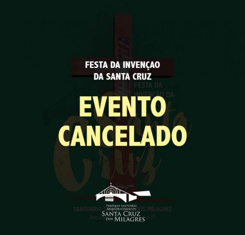 Santuário de Sta Cruz dos Milagres cancela Festa da Invenção da Santa Cruz