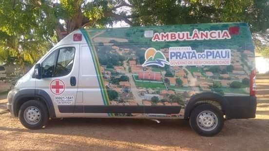 Prata do Piaui a mais de 30 dias recebeu recurso pra aquisição de nova ambulância