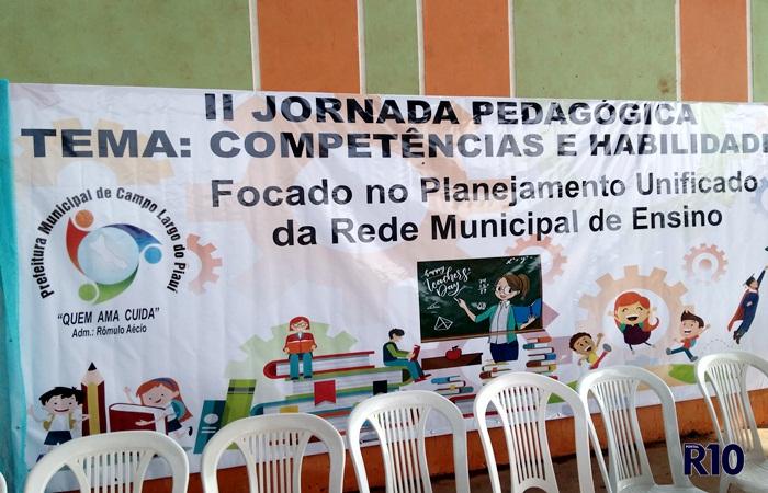 Abertura da II Jornada Pedagógica em Campo Largo do Piauí-PI