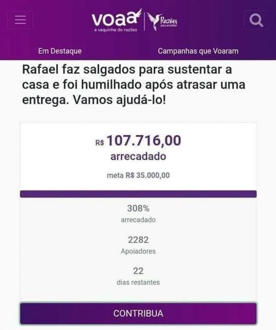 Vendedor recebe R$ 108 mil em doações após ser humilhado por cliente