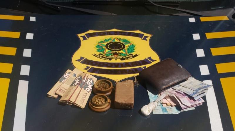 Homem suspeito de tráfico de drogas é preso na BR 135