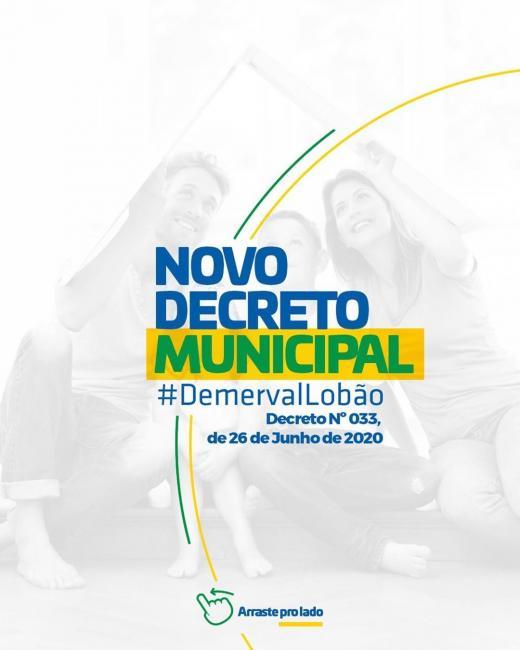 Prefeitura de Demerval Lobão assina novo decreto com medidas mais rígidas