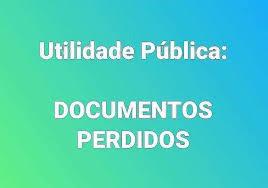Documento Perdido - Utilidade Pública