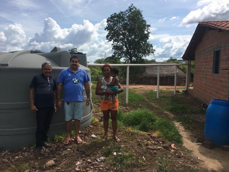 Prefeito Antonio Neto visita beneficiários do Programa Cisternas na zona rural de Lagoa do Piauí