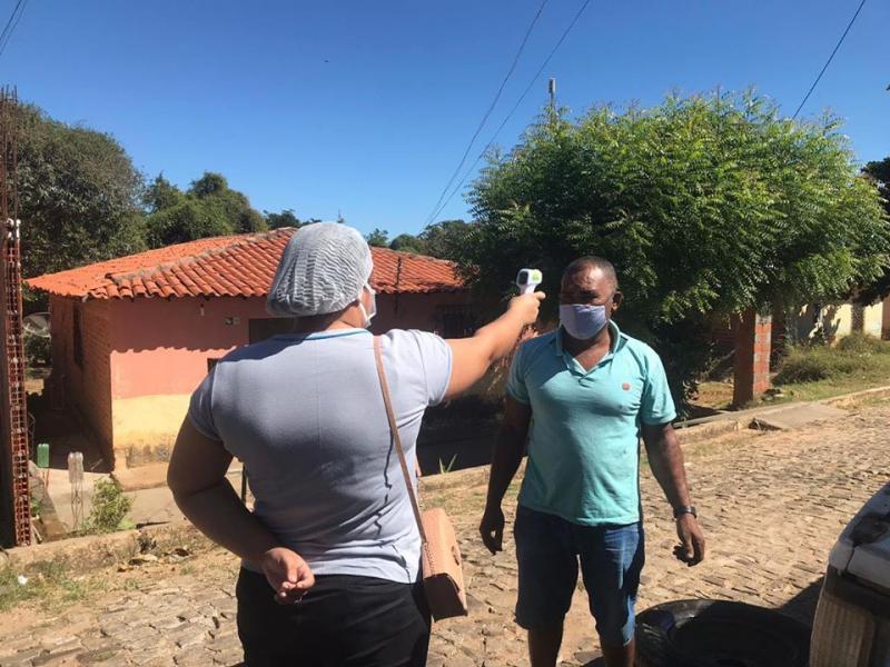 Equipe de Saúde realiza aferição de temperatura da população em Amarante
