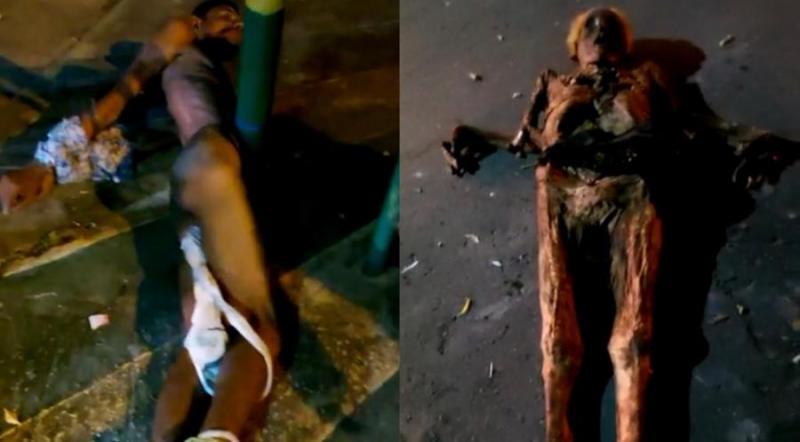 Vídeo: Homem é preso após desenterrar o corpo da avó e passear  pelas ruas