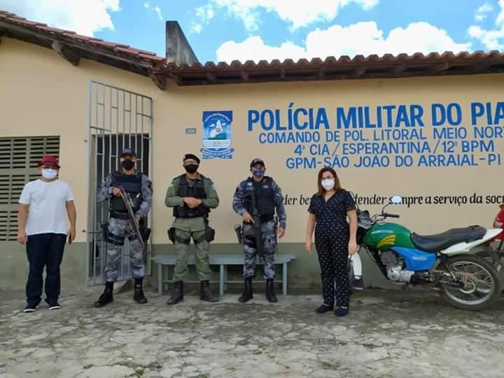 São João do Arraial recebe reforço da Polícia Militar da região dos Cocais
