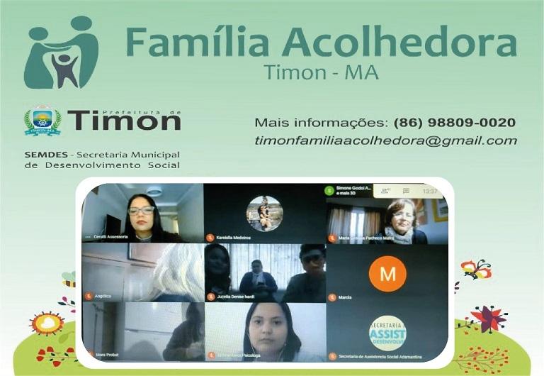 Capacitação on-line fortalece ações do Programa Família Acolhedora em Timon