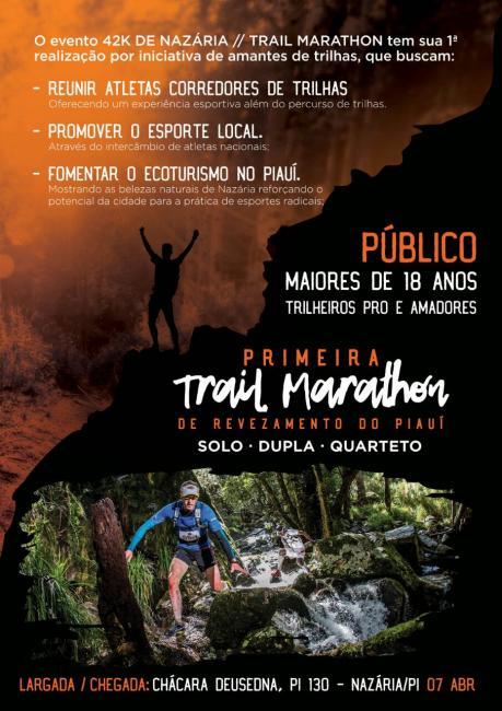 Nazária terá a 1ª edição da  42k Nazária Trail Maraton em Abril