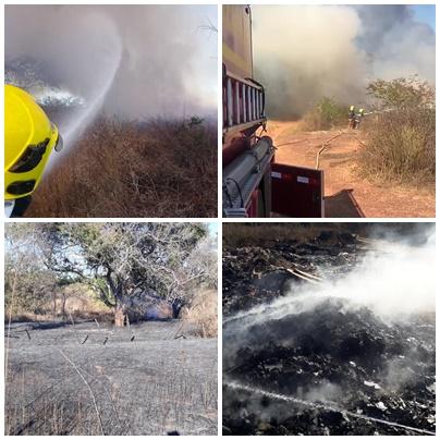 Corpo de Bombeiros atende duas ocorrências de incêndios florestais em Picos
