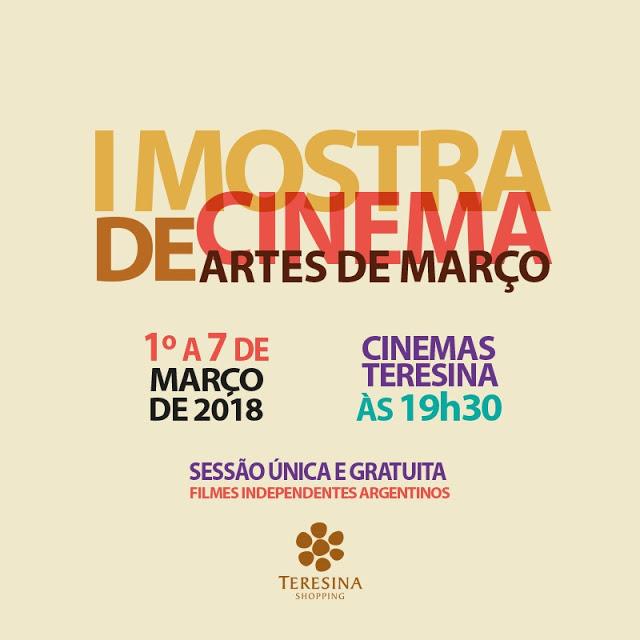 Artes de Março traz exibição de filmes gratuitos a partir desta quinta-feira