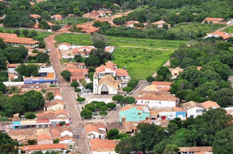 Vista aérea da cidade de Brasileira-Pi