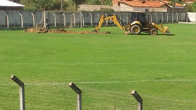 Estádio Municipal João Filomeno recebe obras de drenagem