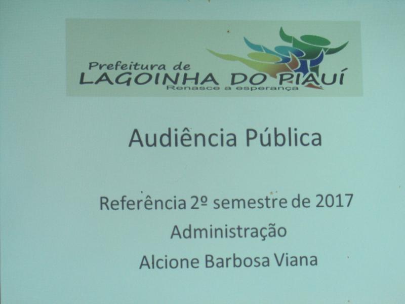 Prefeitura realizou na noite de quarta-feira audiência pública de Prestação de Contas