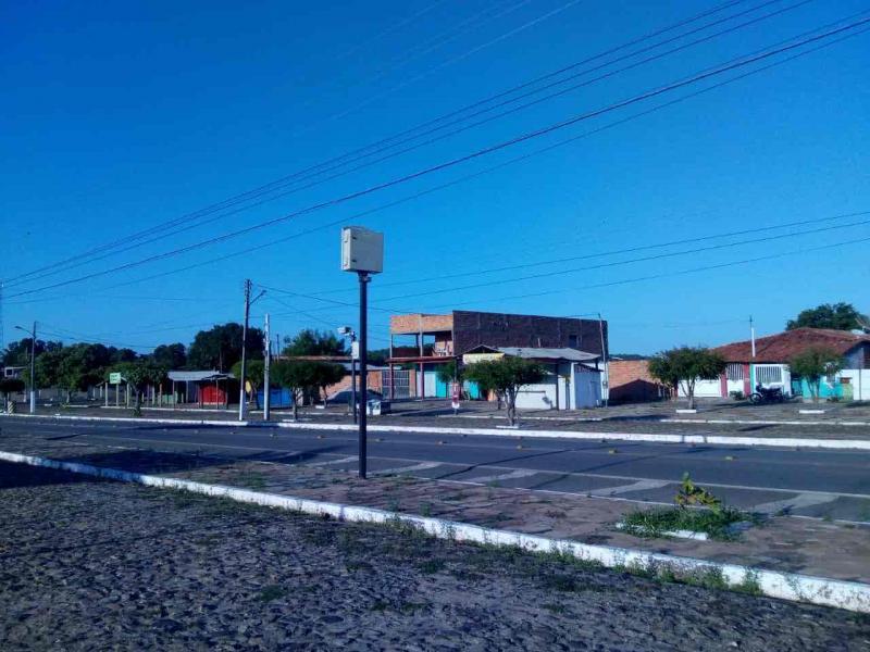 Avenida Cândido Mendes, centro da cidade de Brasileira