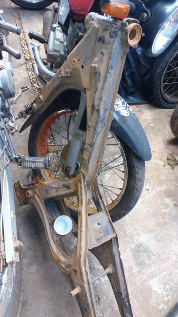 Moto roubada em São João do Arraial é encontrada totalmente