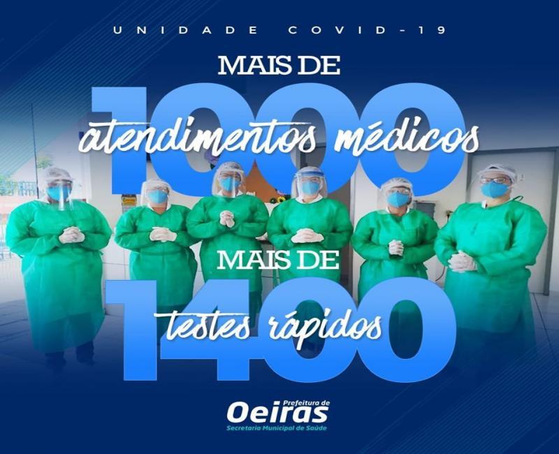 Unidade Covid-19 já realizou mais de 1.000 atendimentos médicos em Oeiras