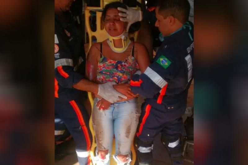Mulher reage a assalto, é agredida e arrastada por 15 metros