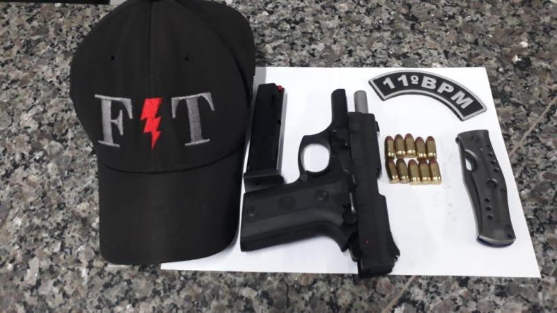 Força Tática prende homem com pistola 380 municiada em Timon