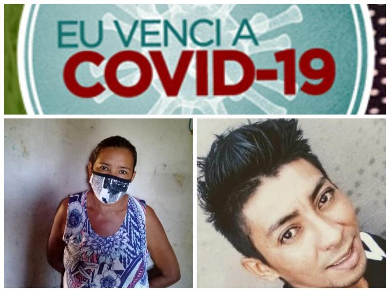 Mãe e filho, após teste rápido, comprovam que estavam curados da Covid-19