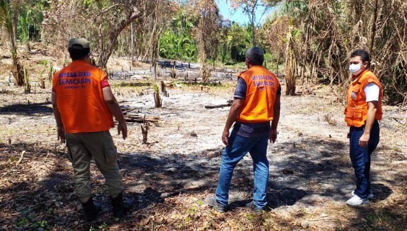 Defesa Civil fiscaliza queimadas na zona leste de Teresina