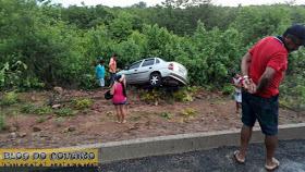 Motorista é arremessado para fora de veículo em acidente no Piauí