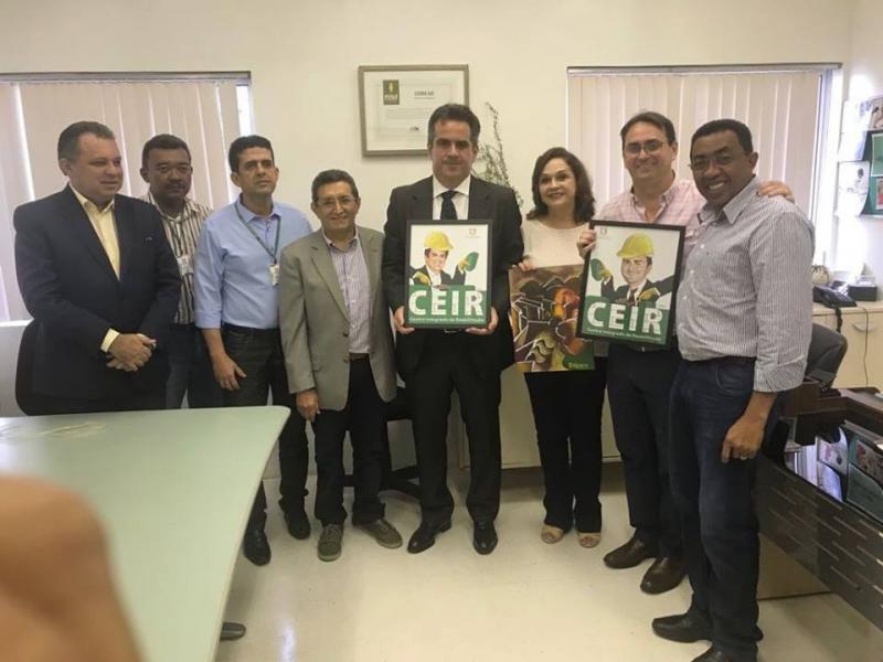 Joel Rodrigues visita CEIR durante homenagem ao senador Ciro Nogueira