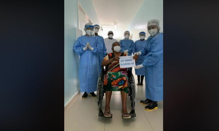 Amarante comemora alta de paciente de 82 anos curada da Covid-19