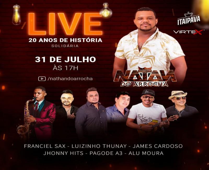 PICOS | Cantor Natan do Arrocha realiza live nesta sexta-feira (31)