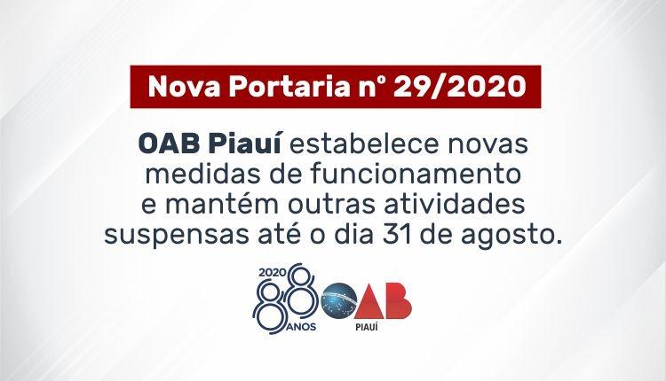 OAB Piauí estabelece novas medidas de funcionamento