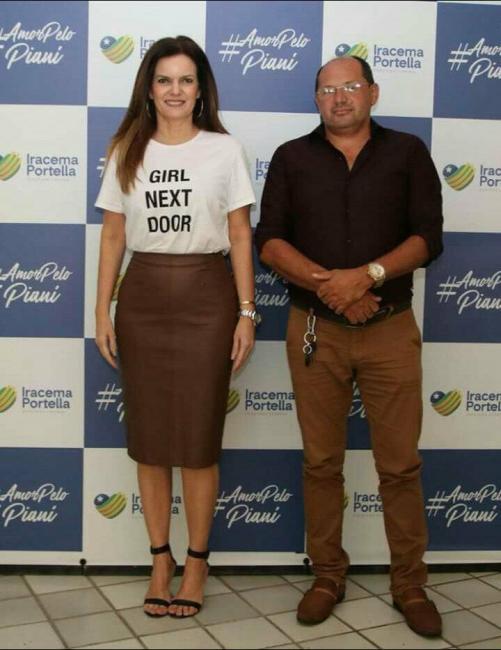 Vice-prefeito de Prata do Piauí se reúne com Iracema Portella