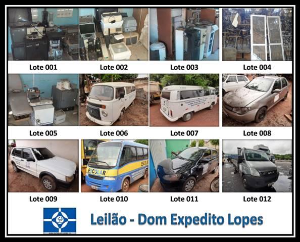 Dom Expedito Lopes realizará leilão online de materiais diversos