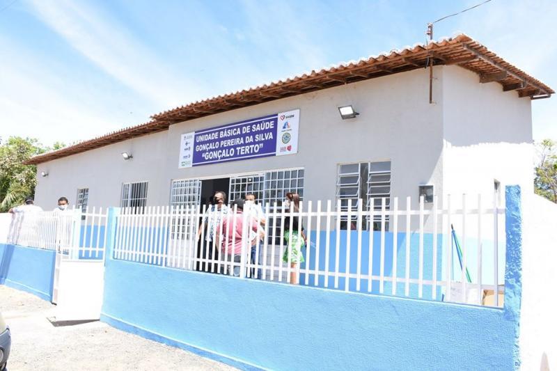 Amarante| Prefeito Diego Teixeira inaugura UBS na comunidade Saco dos Melos