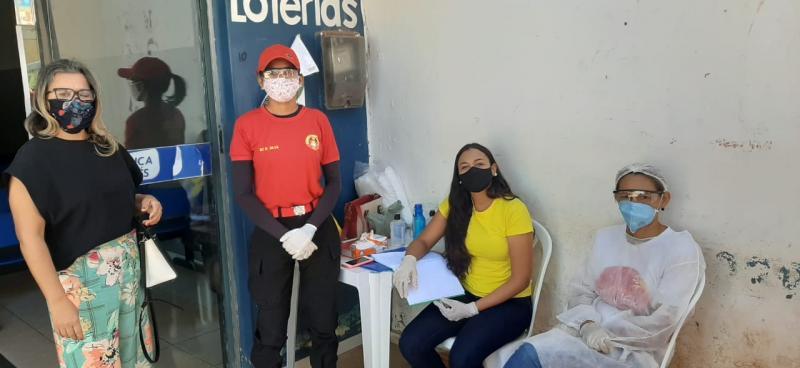 Lotérica de Gilbués recebe apoio da prefeitura no combate ao Covid