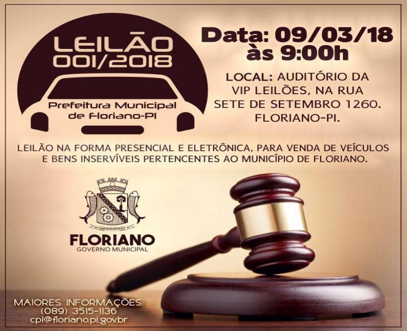 Governo Municipal realiza leilão de veículos nessa sexta-feira (09)